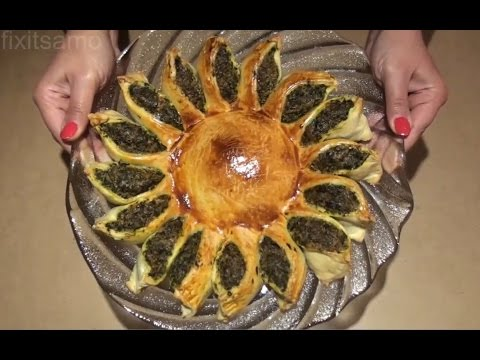 spinach-pie-recipe---how-to-make-a-sun-shaped-pie