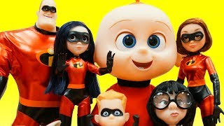 New Incredibles 2 Movie Toys Mr  Incredible Rescues Elastigirl Edna Mode Dash Baby Jack Jack