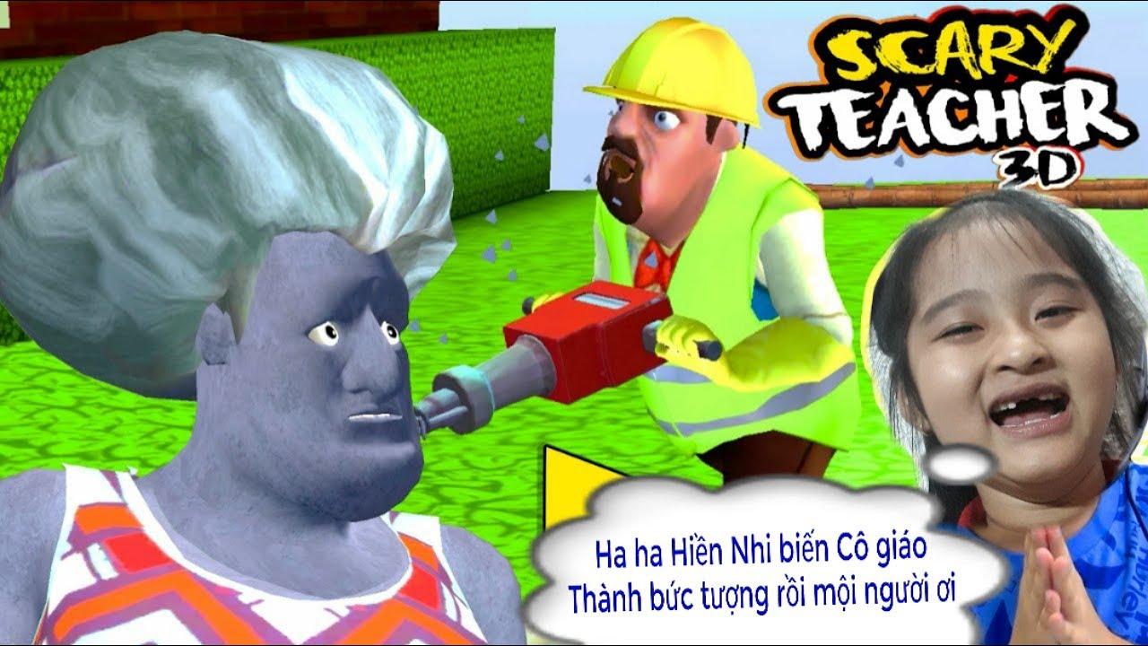 Game vui | Scary Teacher 3D | Bẩy Cô Giáo biến thành bức tượng | Part 12