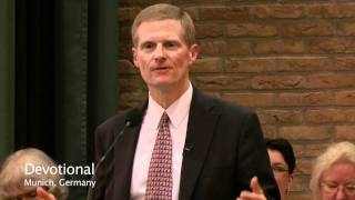 Elder Bednar Ministers to European Saints