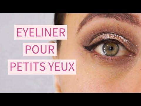 Comment faire un trait d'eye liner pour petits yeux ?