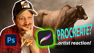 Is PROCREATE better than PHOTOSHOP??? - I try Procreate for the FIRST TIME! + my thoughts...