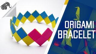 Origami - How To Make An Origami Bracelet/Armband