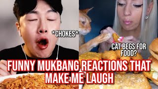 the FUNNIEST mukbang reactions that make me laugh