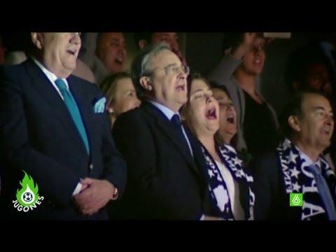 Florentino Pérez vibró con el nuevo himno
