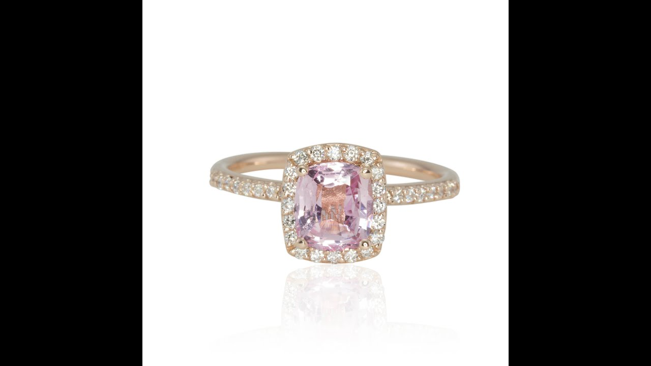 rose tz diamond tanzanite rings cut pid amethist preset and gold cushion halo ring engagement
