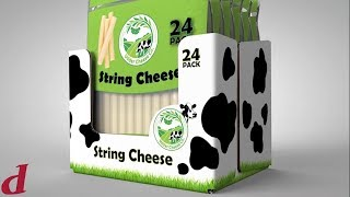 Shelf Ready Packaging for Cheese | Delkor Cabrio® Cheese Packaging