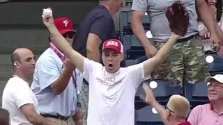 Zack Hample Catching Game Home Runs on TV (Part 4/5)