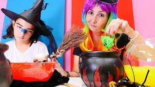 Cadı Özge Mina'yı tedavi ediyor! Çocuk oyunu
