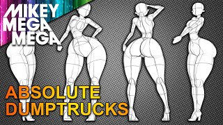 PIXAR DUMPTRUCK MOM POSES FROM BASIC SHAPES (How To Draw)