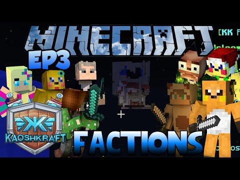 Minecraft: KaoshKraft Factions Server EP 3  Skull Shaped Base
