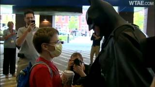 Dark Knight brightens day for kids