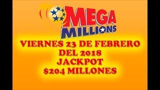 Gambar cover Resultados Mega Millions 23 Febrero 2018 $204 Millones   Powerball en Español