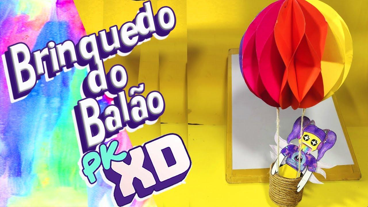COMO FAZER PAPER TOY DO BALÃO DO @PK XD