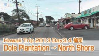 Dole Plantation to North Shore(Hawaii Trip 2013 Day3.4 補足)