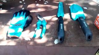 Садовая лопатка, совок садовый, секатор, перчатки GARDENA обзор и испытание.