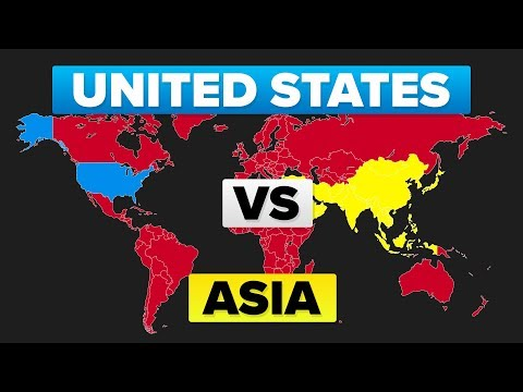 The United States (USA) vs Asia - Who Would Win? | Military / Army Comparison