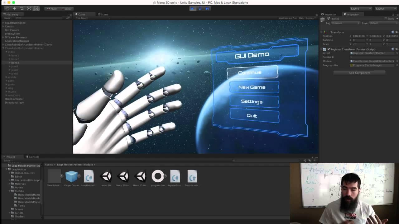 Mockup Monday #36: Leap Motion Cursor for Unity's New UI