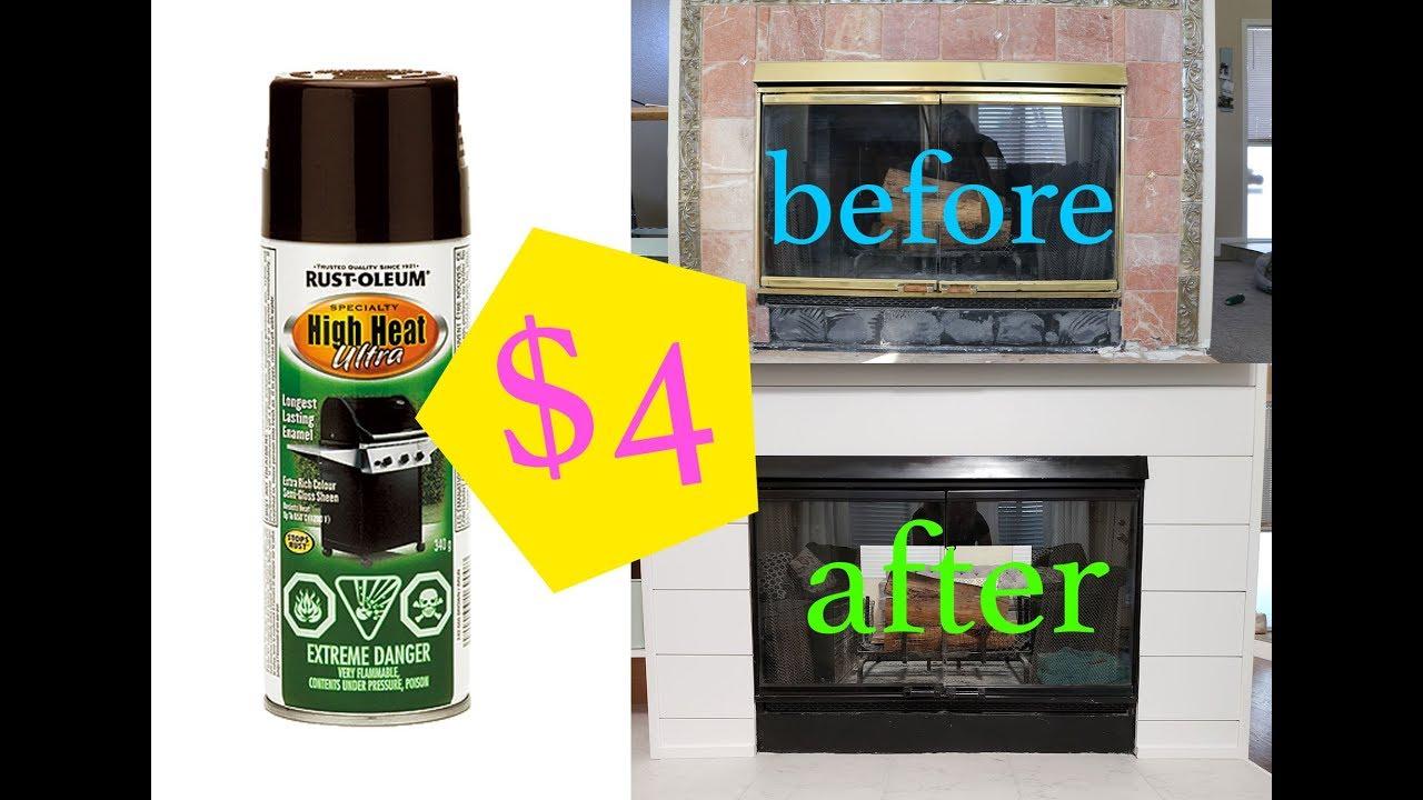 4 Diy Fireplace Makeover Rustoleum High Heat Spray Paint