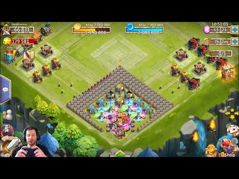 Rolling 55,000 Gems New Player Needs Aries Castle Clash