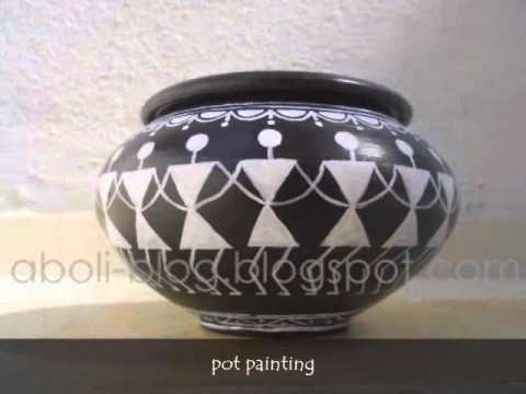 Warli Painting Indian Folk Art Youtube
