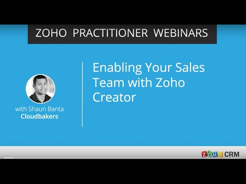 Extending Zoho CRM with Zoho Creator