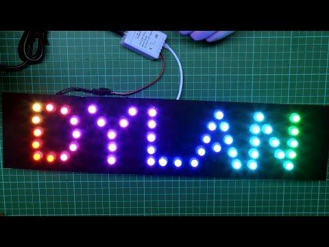 RGB LED Pixel Name Signs