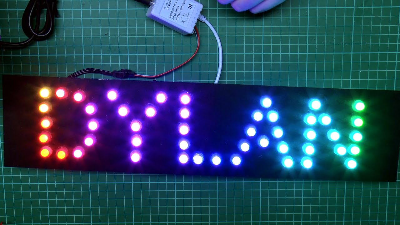 RGB LED Pixel Name Signs - YouTube