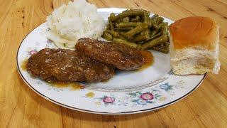 Salisbury Steak And Gravy - 100 Year Old Recipe - The Hillbilly Kitchen
