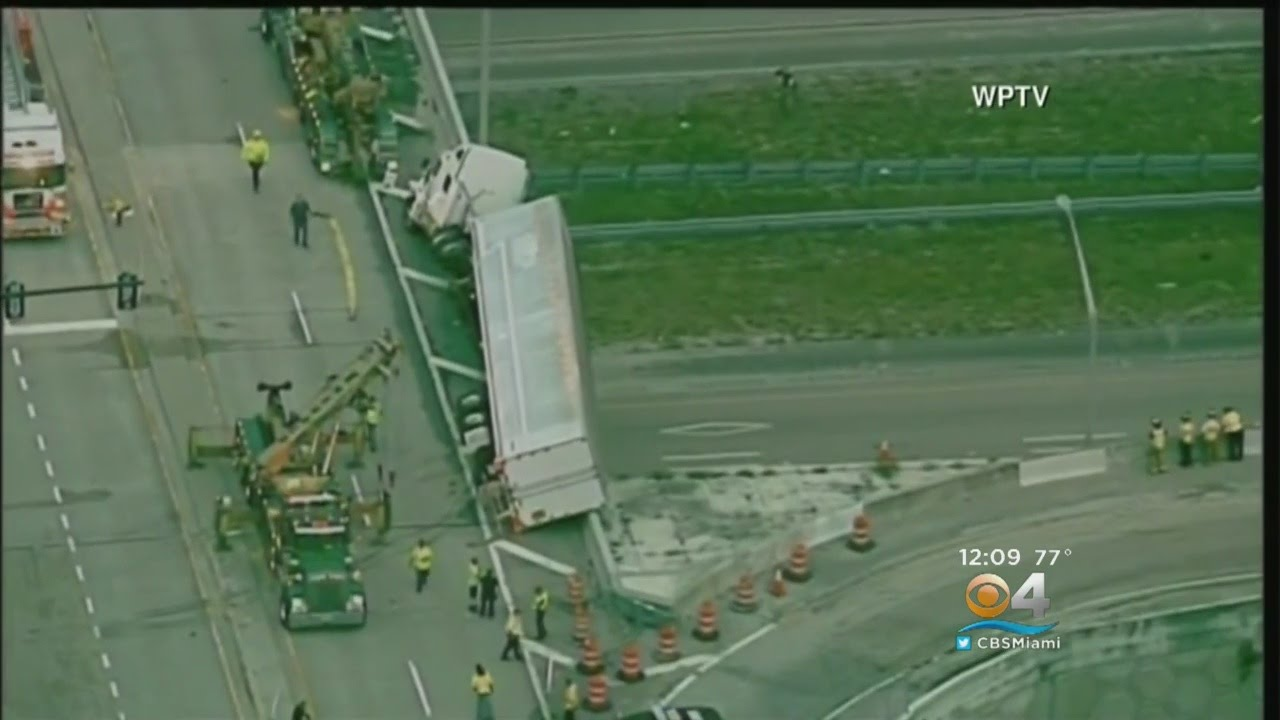 Tow Truck Driver Killed Trying To Right Big Rig Dangling Off I-95