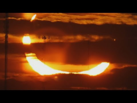 Stunning view of the 'ring of fire' solar eclipse in Canada