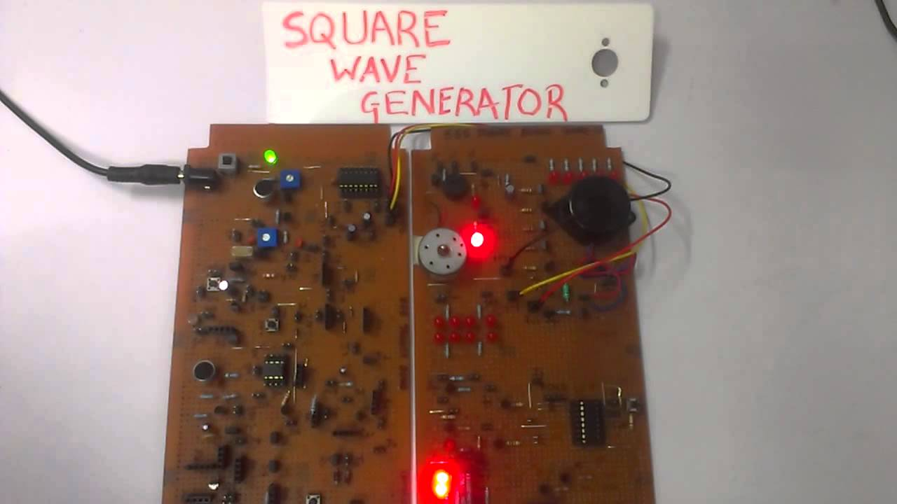 Square Wave Generator Using 555 Timer IC
