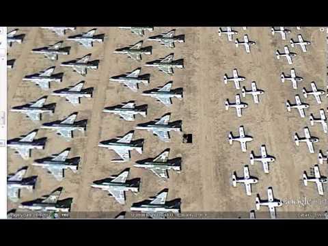 AEROSPACE BONE YARD,THOUSANDS OF PLANES.USAF.HUGE ELEVATORES.