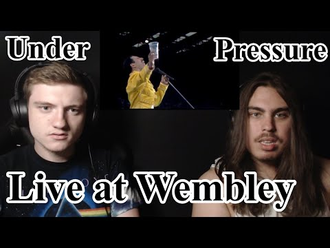 College Students First Time Hearing - Under Pressure Live at Wembley | Queen Reaction!