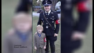 VIDEO: Dad and son Nazi costumes spark criticism