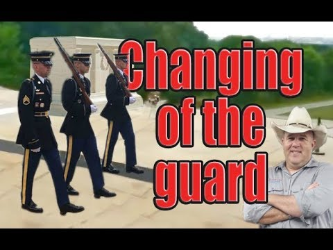 Changing Of The Guard At Arlington National Cemetery