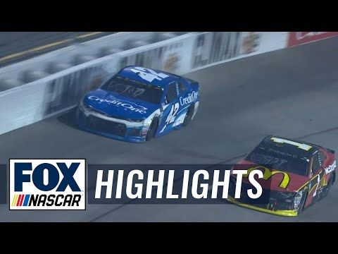 Jamie McMurray unhappy with Kyle Larson after slamming the wall | 2018 RICHMOND | FOX NASCAR