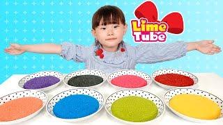 라임의 칼라 아이스크림 만들기 색깔놀이 Learn Colors with Ice Cream for Children, Toddlers and Babies