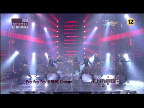 HyunAs SOLO DEBUT  Change @ MuBank! 100108