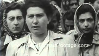 Belsen Nazi Concentration Camp Footage - stock footage - www.PublicDomainFootage.com