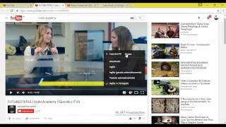Como trocar  a cor da legenda no Youtube