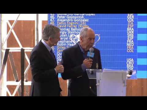 Nick Bollettieri at the draw - Australian Open 2015
