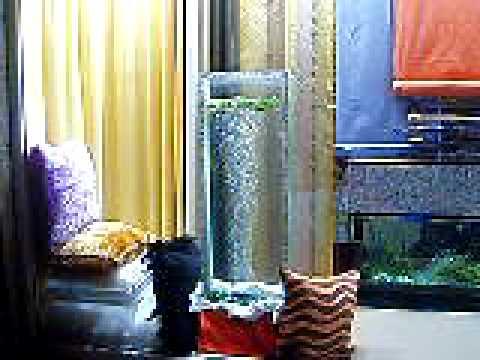Escaparate de cortinas con decoraci n feng shui youtube for Argollas con pinzas para cortinas