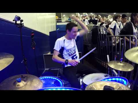 Live Drumming - GSU Basketball Band 2015 - Sold Out Crowd! GSU Sun Belt Champs!