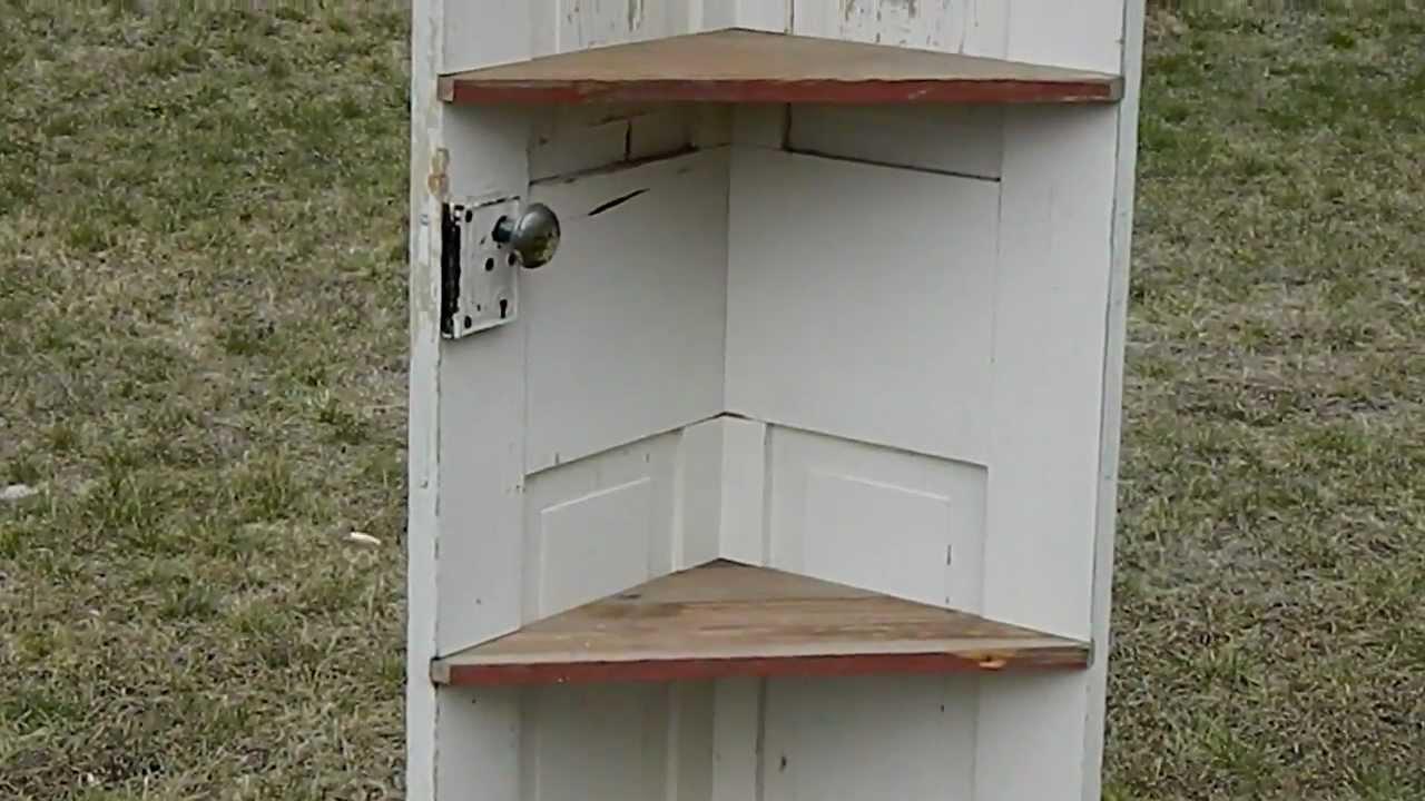 Attirant Primitive Door Corner Shelf   YouTube