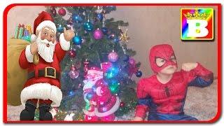 Mos Nicolae. Spider Man si Disney Princess Anabella Show pregatesc bradul de anul nou Bogdan`s Show