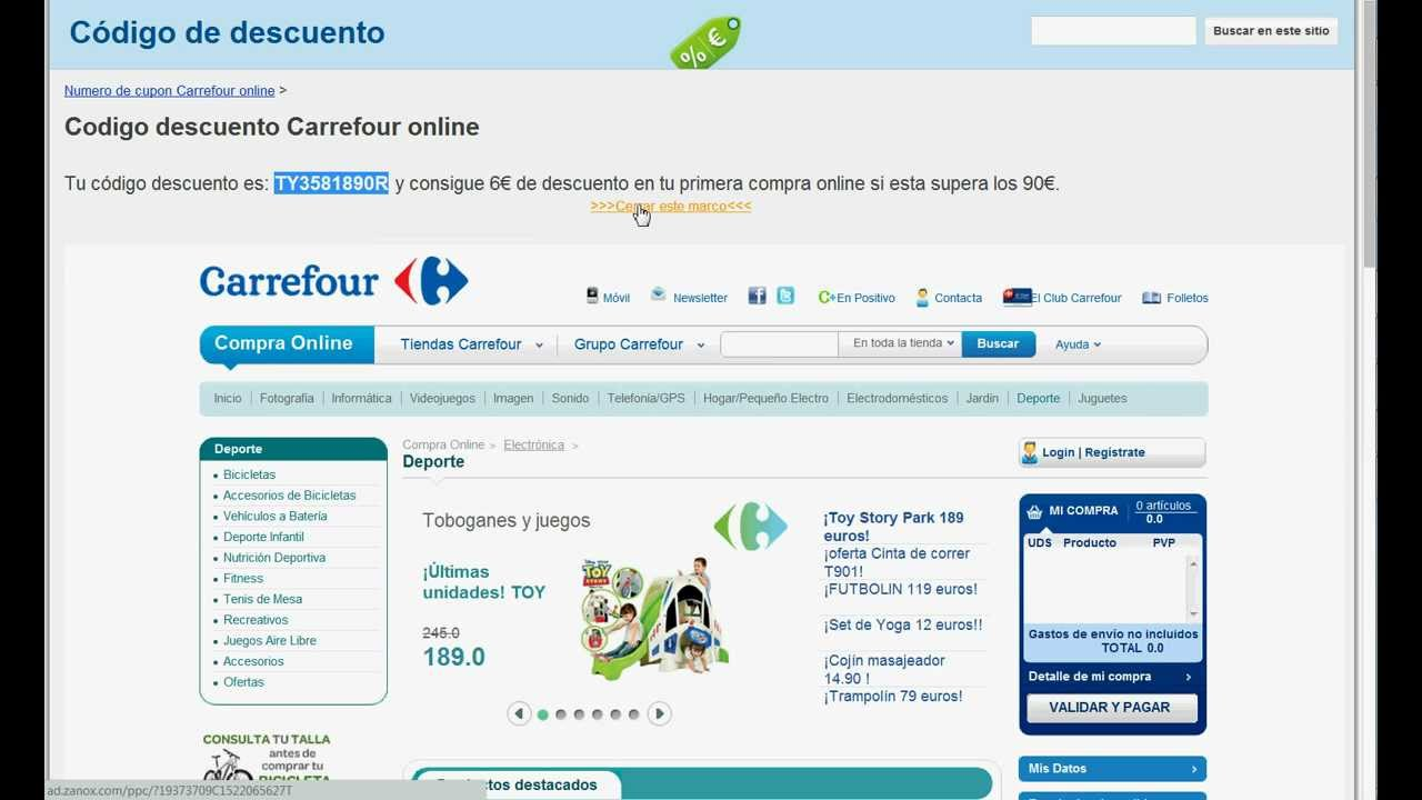 carrefour cupon descuento 5 online
