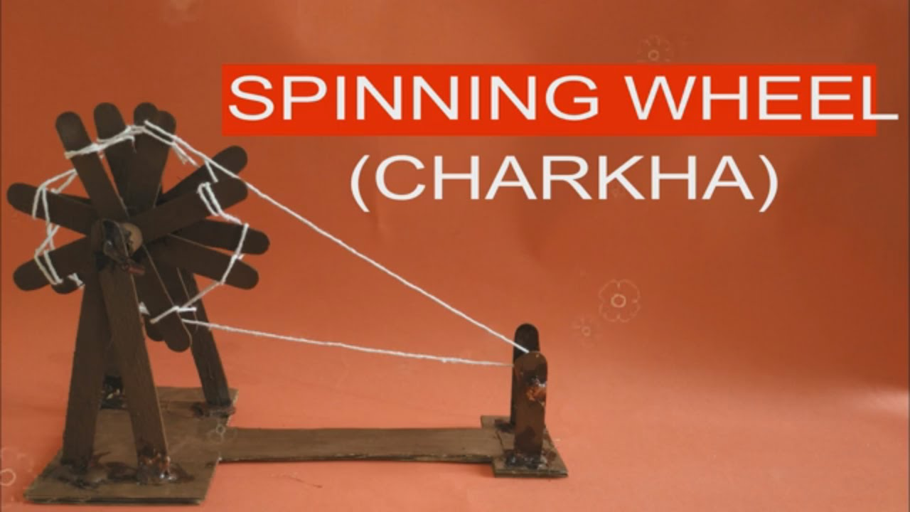 MAKE MOVING CHARKHA (Spinning Wheel) WITH ICE-CREAM STICKS  POPSICLE STICK  CRAFT   BEST OUT OF WASTE