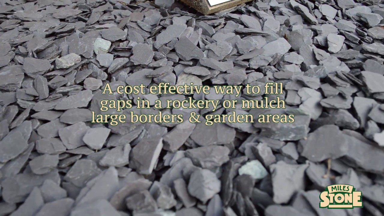 slate mulch chippings - decorative stone chippings & landscaping