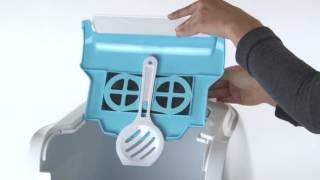 Видео-обзор закрытого туалета Moderna Flip cat для кошек